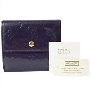 Louis Vuitton purple vernis monogram Elise wallet